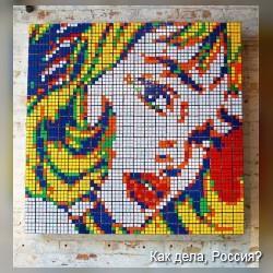 Картины из кубиков Рубика